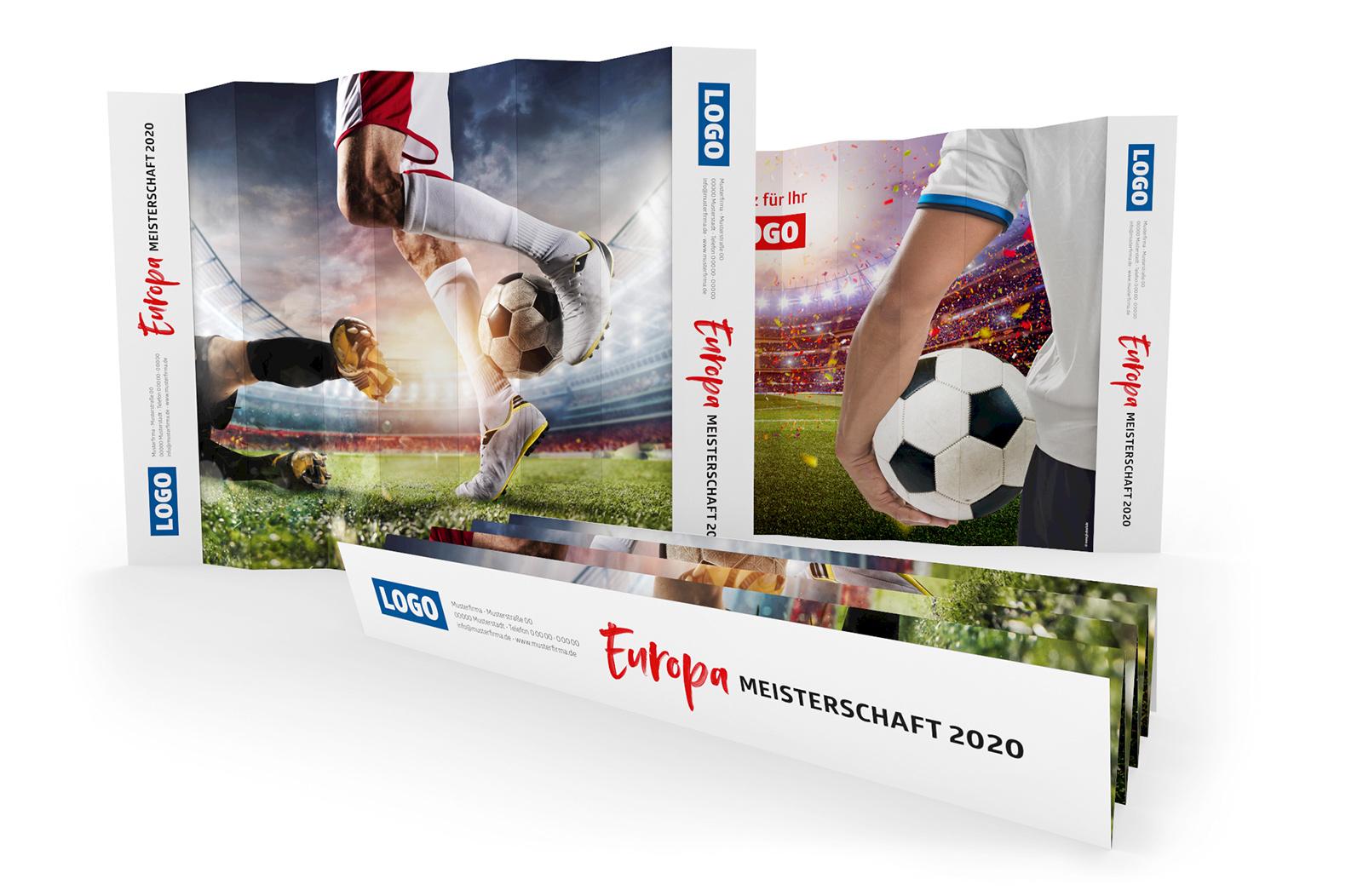Fussball Spielplan Fanklatschpappe Werbemittel EM 2020