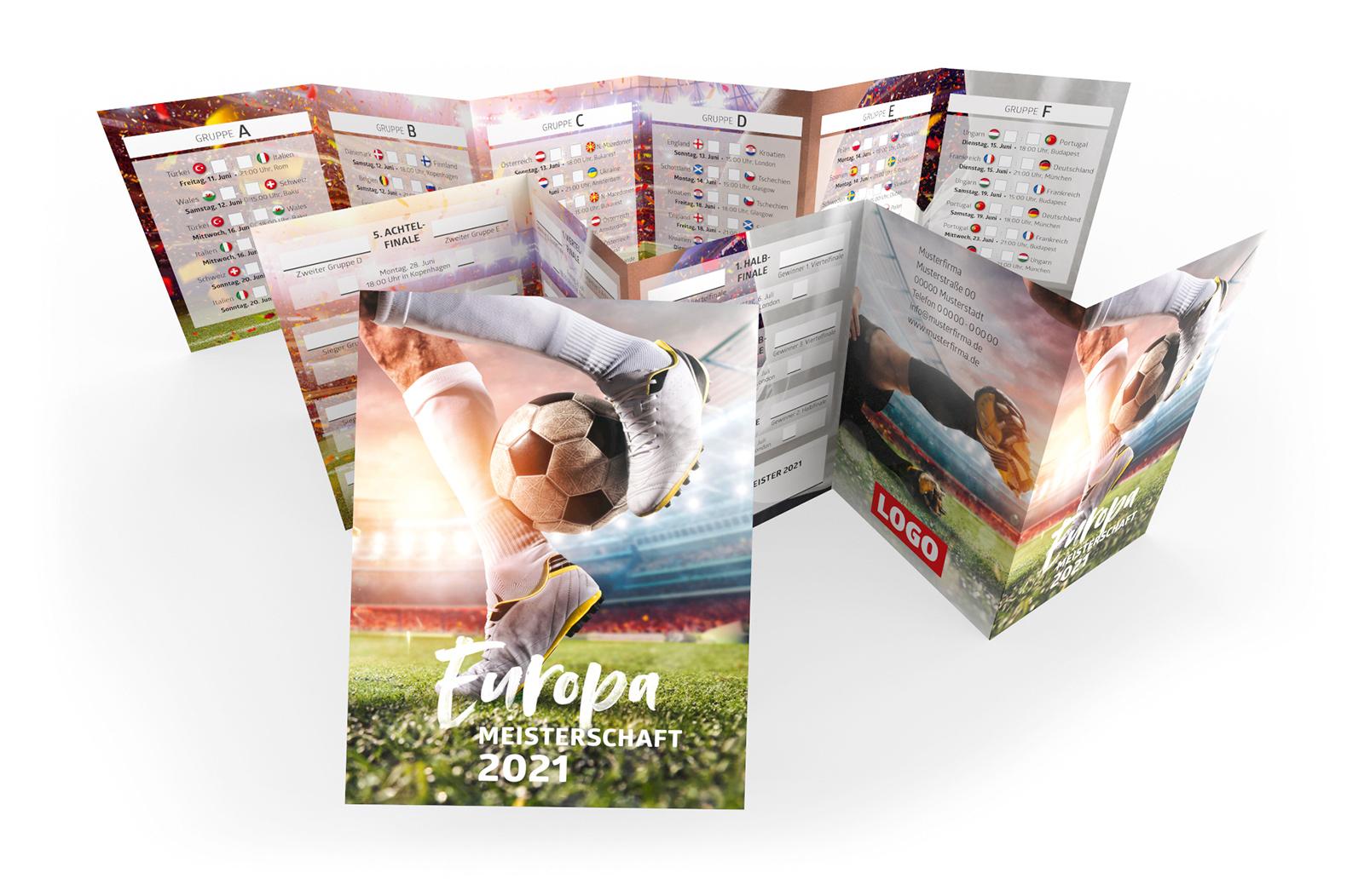 Fussball Spielplan Pocketplaner Werbemittel EM 2021