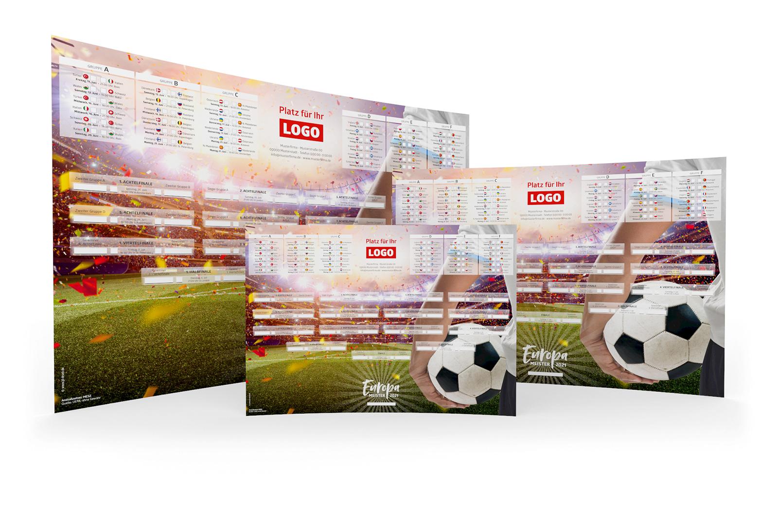 Fussball Spielplan Poster A3 A2 A1 Werbemittel EM 2021