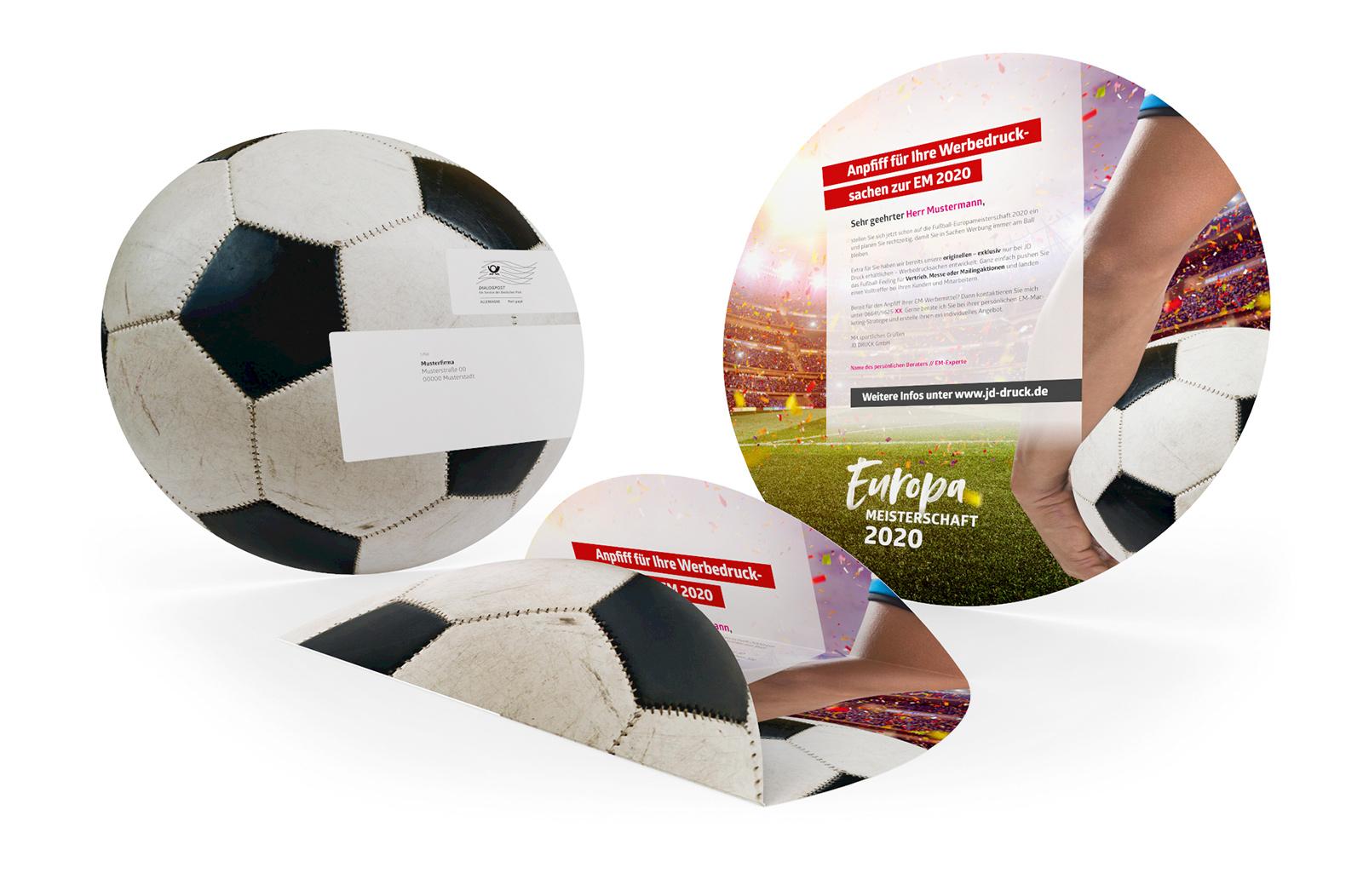 Fussball Spielplan Rundmailing Werbemittel EM 2020