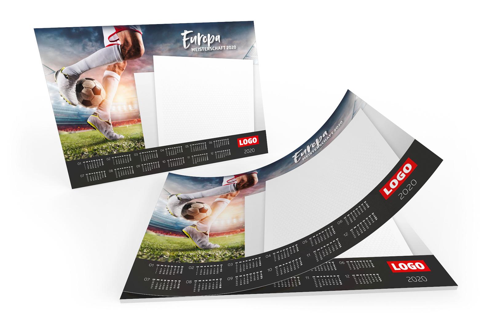 Fussball Spielplan Schreibtischauflage Werbemittel EM 2020