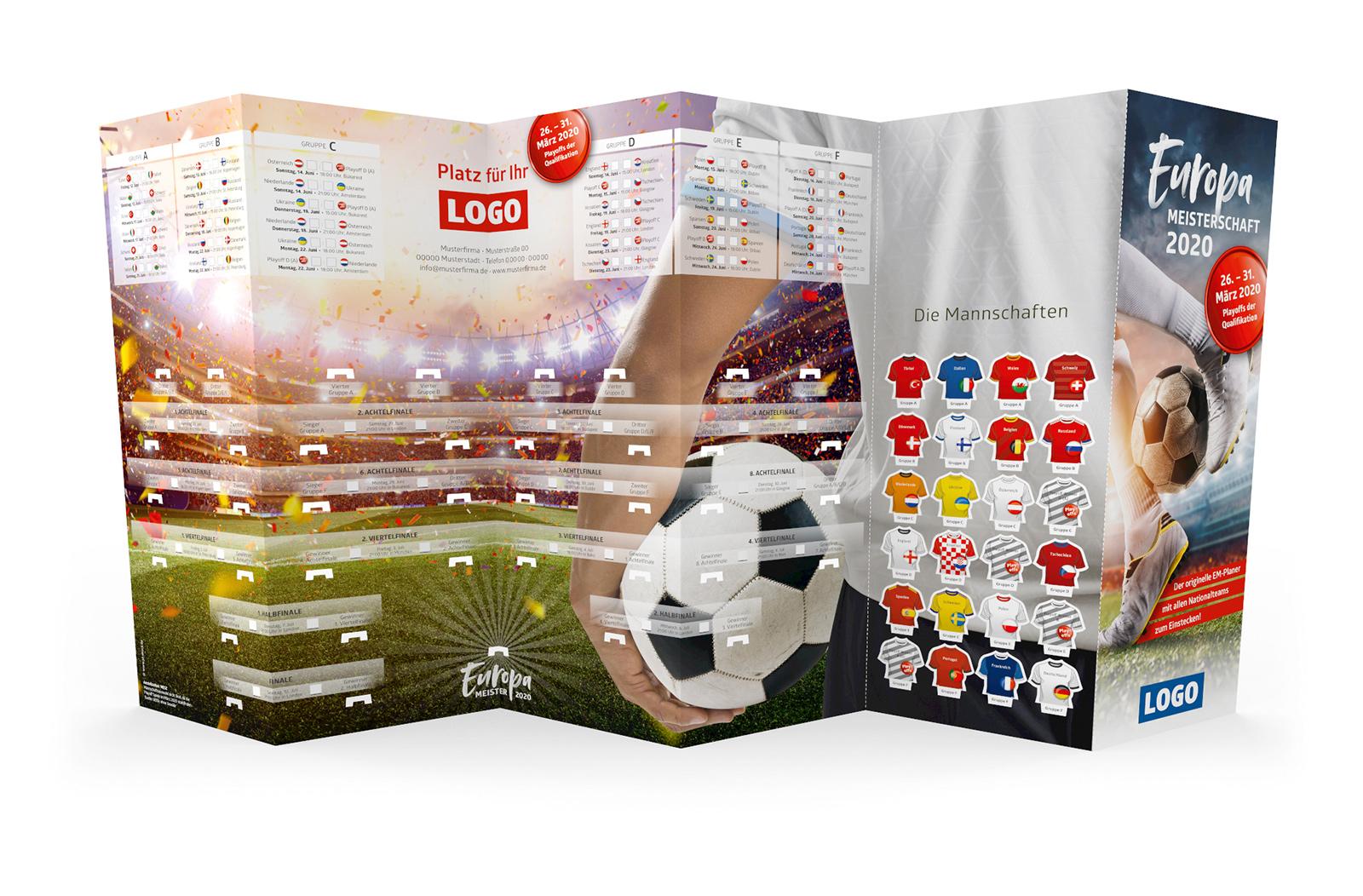 Fussball Spielplan Wandplan Steckplan Werbemittel EM 2020 gross