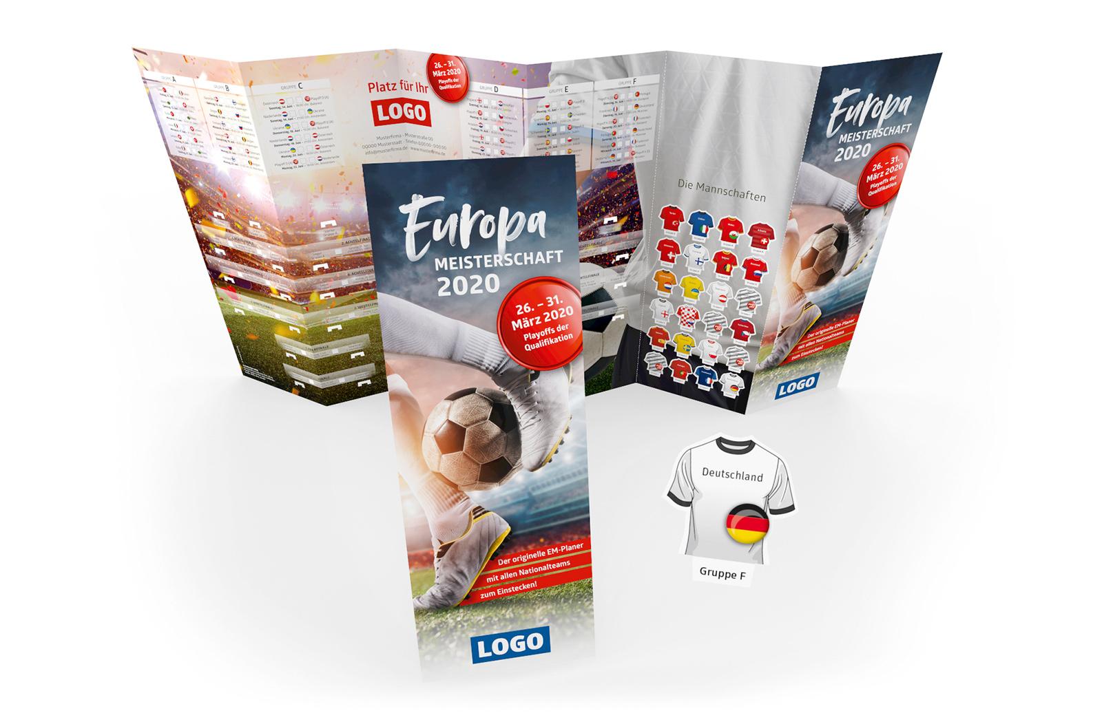Fussball Spielplan Wandplan Steckplan Werbemittel EM 2020 klein