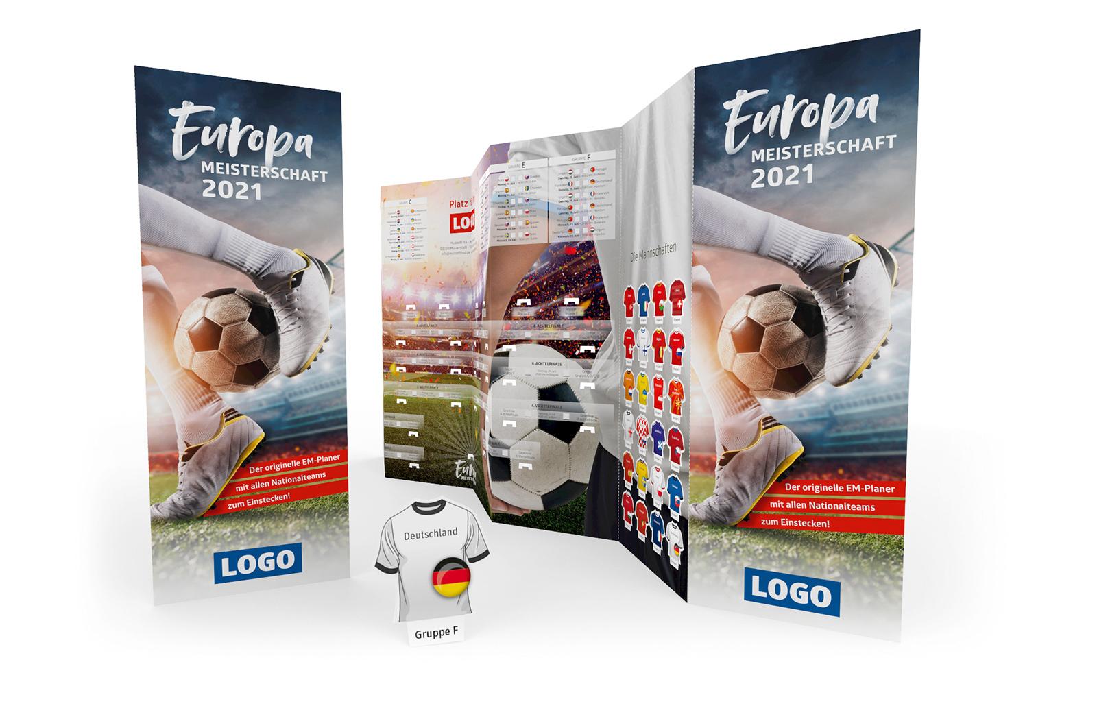 Fussball Spielplan Wandplan Steckplan Werbemittel EM 2021 gross