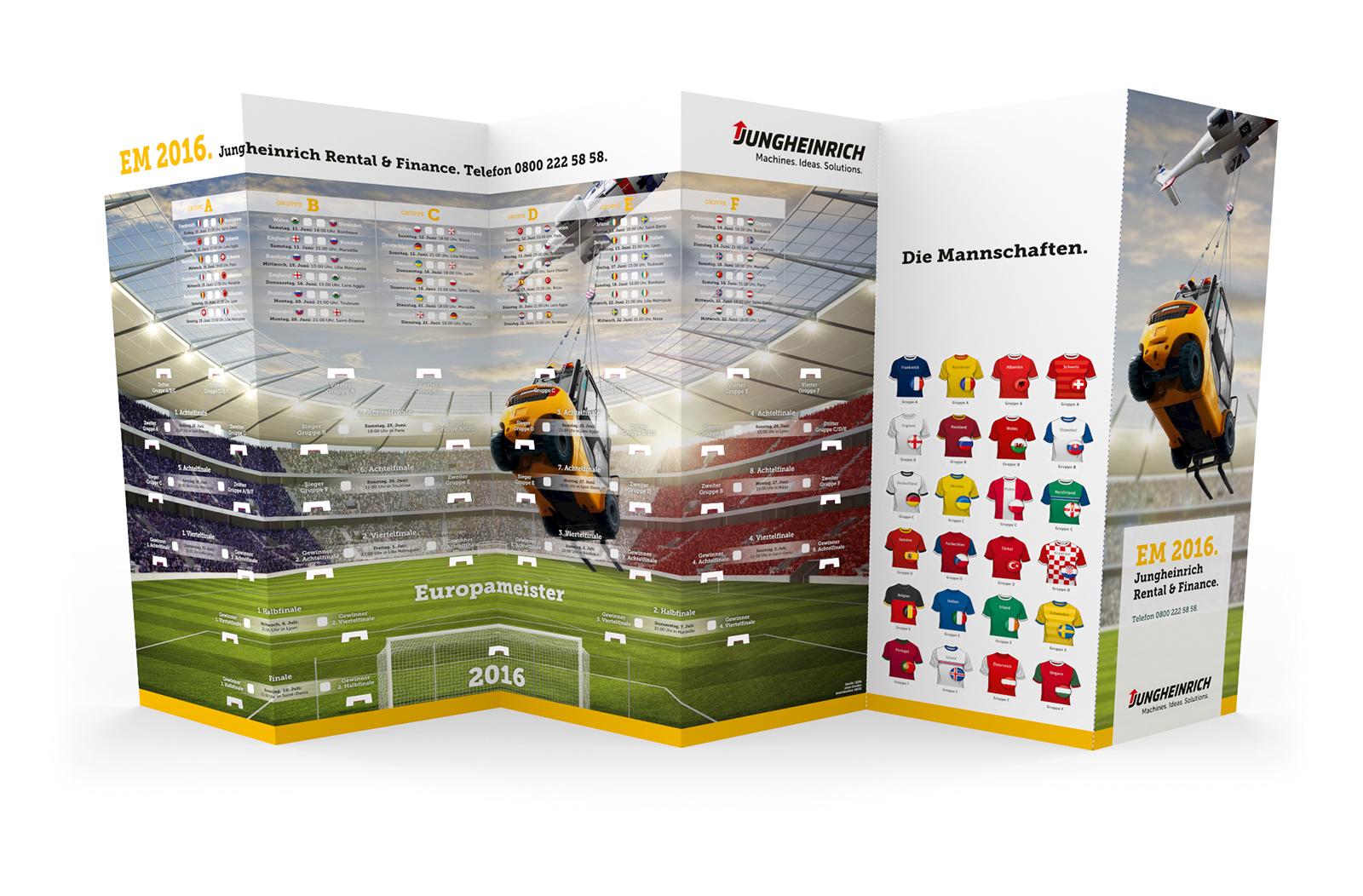 Fussball Spielplan Wandplan Steckplan Werbemittel EM 2021 Kundenbeispiel