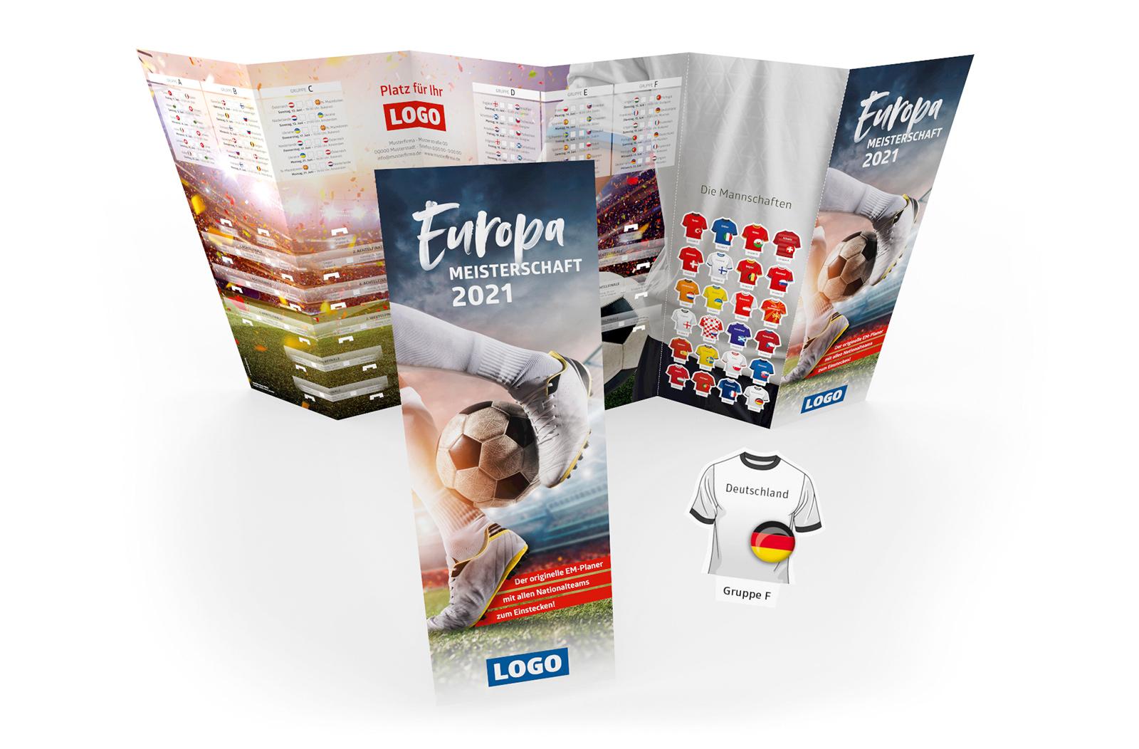 Fussball Spielplan Wandplan Steckplan Werbemittel EM 2021 klein