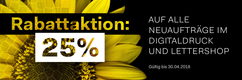 25 Prozent Rabattaktion